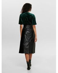 ONLY Middellange Rok Leatherlook - Zwart