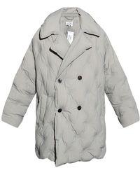 Maison Margiela Oversize Double-breasted Coat - Grijs
