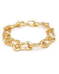 Nialaya Women's Sterling Silver Chain Bracelet In Gold - Geel
