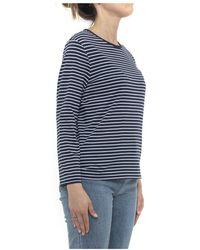 Allude - T-shirt Azul - Lyst