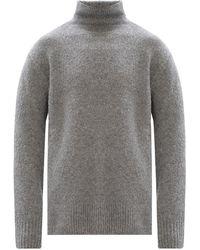 KENZO Ribbed Turtleneck Sweater - Grijs