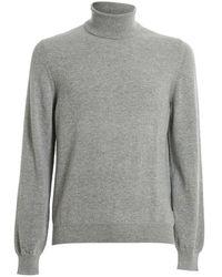 Fedeli Derby Slim Ml. Ch Sweater - Grijs