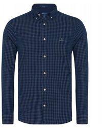 GANT D1. Chemise à carreaux - Bleu