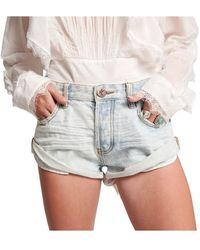 One Teaspoon Florence Bandits Shorts - Blauw