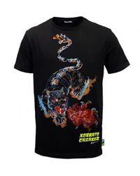Roberto Cavalli T-shirt Serpie - Zwart