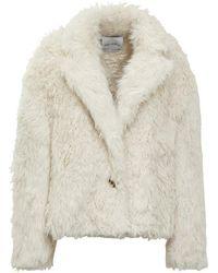 The Attico Coat Wool-like - Wit