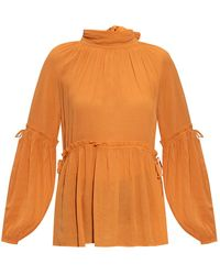 AllSaints Eimear long-sleeved top - Arancione