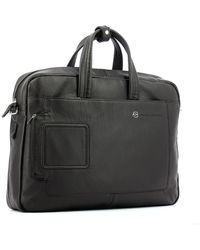 Piquadro Briefcase with two handles for PC 15.6 Vibe Marrón