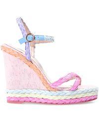 Sophia Webster Ines wedge sandals - Rose