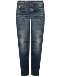 Amiri Jeans With Vintage Effect - Blauw