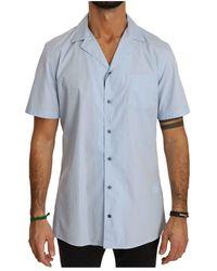 Dolce & Gabbana - Shirt Met Korte Mouwen 100% Katoen Top Shirt - Lyst