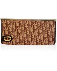 Dior Pochette in tela con logo vintage arazzo - Marrone