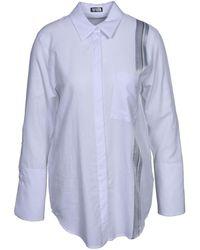 DRYKORN Hemd mit Streifen - Blanc