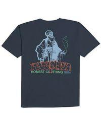 Reception Clothing Honest Tee F0073 - Blauw