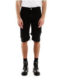 Raf Simons Destroyed Bermuda Jeans - Zwart