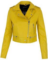 Oakwood Leather Jacket Yoko - Geel