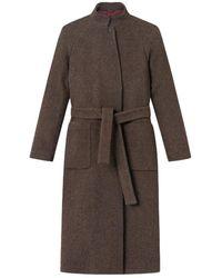 Brixtol Textiles Bem Grandpa Coat - Marrone