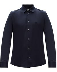 Ferragamo Shirt Met Logo - Blauw