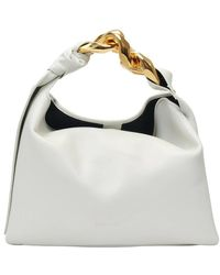 JW Anderson Small Chain Hobo Bag - Wit