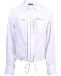 Tory Burch - Cut Out Shirt - Lyst