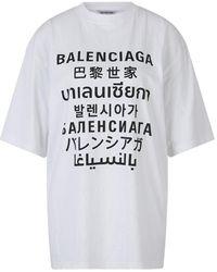 Balenciaga Xl Talen T-shirt - Wit