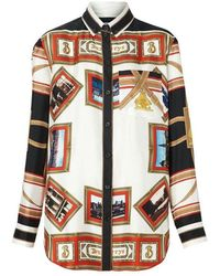 Burberry Camicia Stampa Godwit - Zwart