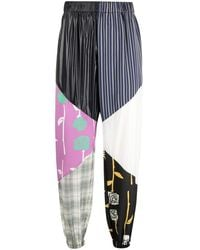 Opening Ceremony Patchwork Track Pant - Blauw