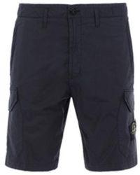 Stone Island L0403 Cargo Bermuda Shorts - Blauw