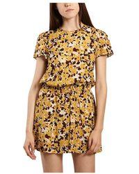 Bellerose Landa Flower Print Dress - Geel