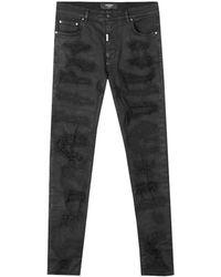Off-White c/o Virgil Abloh - Shredded Denim Jeans - Lyst