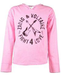 Zadig & Voltaire T-shirt - Roze