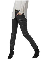 FRAME - Skinny Leather Pants - Lyst