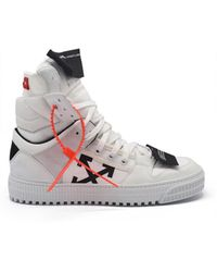 Off-White c/o Virgil Abloh Off Court Hoge Sneakers - Wit
