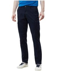 Napapijri Moto Stretch Np000isp Pants Men Blue Marine - Blauw