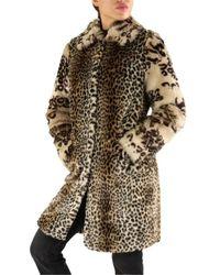 Guess 1bgl10-9659z Fur Coat - Naturel