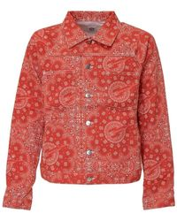 Formy Studio Jacket With Bandana Print - Rood