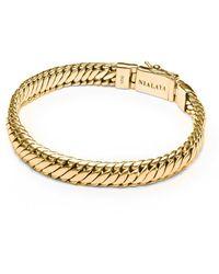 Nialaya Gouden Kettingarmband Voor Heren - Geel