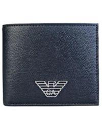 Emporio Armani Portafoglio Con Porta Carte - Blauw
