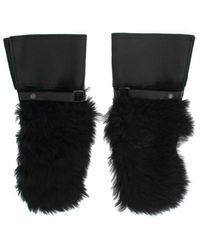 Dolce & Gabbana Sheepskin Shearling Fur Gloves - Schwarz
