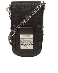 MCM Shoulder Bag With Logo - Zwart