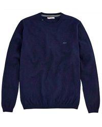 Sun 68 Crewneck Sweater - K40101-07 - Blauw