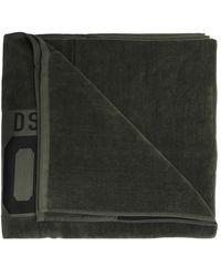 DSquared² Handdoek Met Logo - Groen