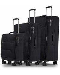 Conwood Soho Black Suitcase Set - Zwart