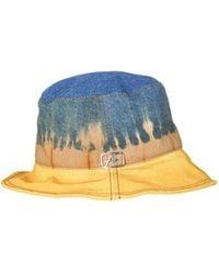 Alberta Ferretti Bucket HAT With TIE DYE Print Azul