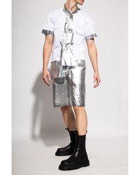 Comme des Garçons Distressed shorts Gris - Blanco