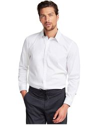 Guess M01H25 W7Zk0 Collins Chemise Homme Blanc
