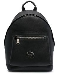 Pinko - Logo-print Leather Backpack - Lyst