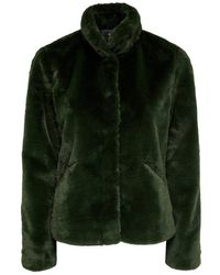 ONLY Faux Fur Jas - Groen