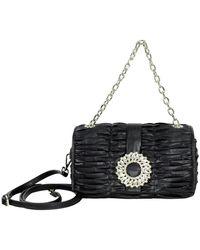 Ermanno Scervino Pochette Flap Bag - Zwart