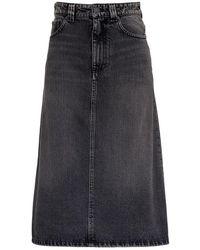 Balenciaga - A-line Denim Skirt - Lyst
